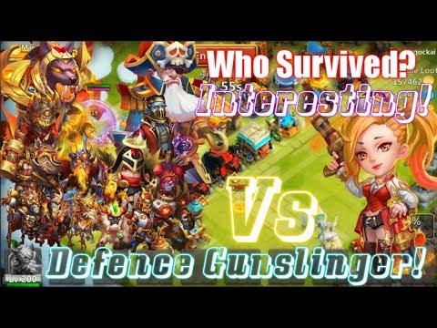 Defence Gunslinger Vs All Tanks Who Can Survived?Best Tank? Castle Clash