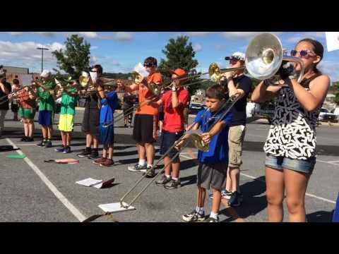 Northampton Area High School band camp on Aug. 17, 2016
