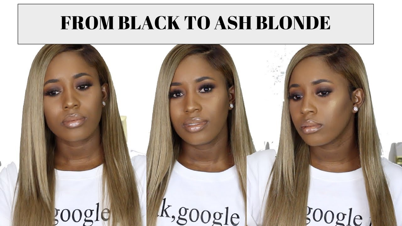 How To Dye Weave From Black To Ash Blonde Feat Julia
