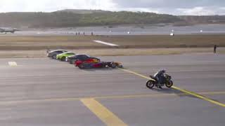 Extraordinary RACE | 2 cars, bike, private jet and fighter plane | ...