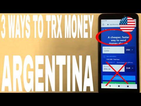🔴 3 Ways To Transfer Money Internationally Overseas To Argentina 🔴
