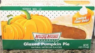 Krispy Kreme Doughnuts: Glazed Pumpkin Pie Review