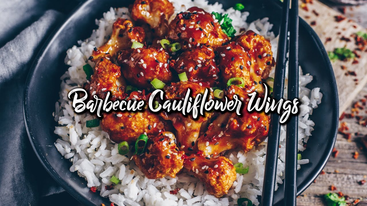 barbecue cauliflower wings - vegan & gluten-free * Recipe
