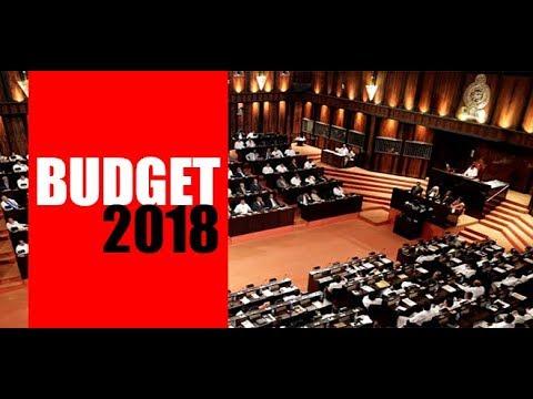 Sri Lanka Budget  2018 LIVE