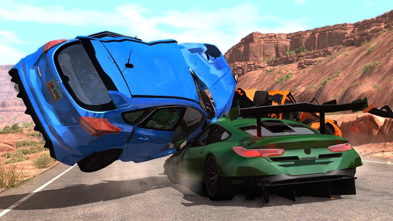 Crash Testing Real Car Mods 2 Beamng Drive Car Crashes
