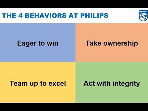 The 4 Behaviors at Philips via Frans van Houten