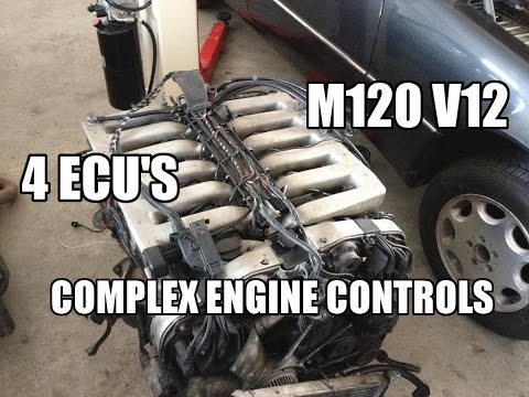 Mercedes 600 SEL W140 complex engine controls. W201 V12 project JMSpeedshop !