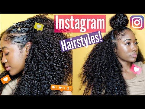 Instagram Inspired Natural Hairstyles  Curly Clip-Ins!