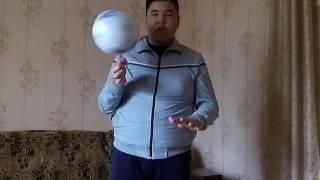 Видео обучение как крутить мяч на ручке