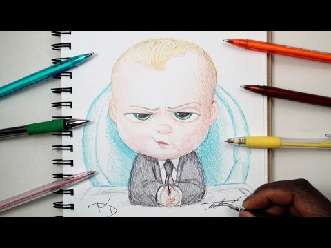 SKETCH SUNDAY #8 How To Draw The Boss Baby - THE BOSS BABY 2017 - DeMoose Art