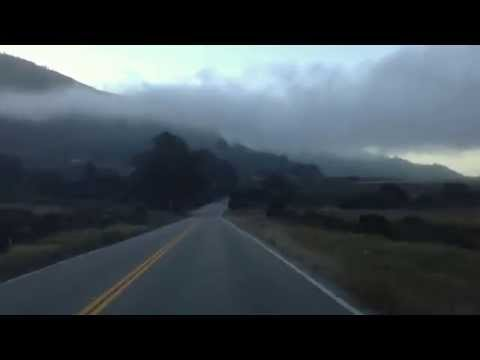Highway 1 south of Big Sur at high speed
