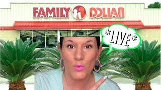 *LIVE* FAMILY DOLLAR SHOP WITH ME | NEW $1 FINDS, CLOTHING & SHOES BOGO 50% OFF
