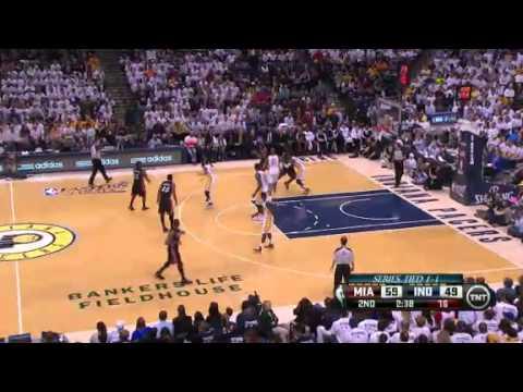 NBA CIRCLE - Miami Heat Vs Indiana Pacers Game 3 Highlights - 26 May 2013 Western Final
