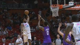 Justise Winslow Posterizes Two Suns Players! Suns vs Heat!