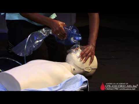 CPR Training Video - How to Use a Bag Mask for Ventilation