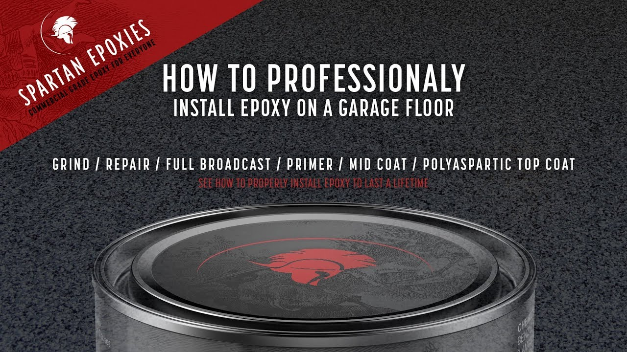 Garage Floor Epoxy Primer How To Professionally Install Epoxy On A Garage Floor