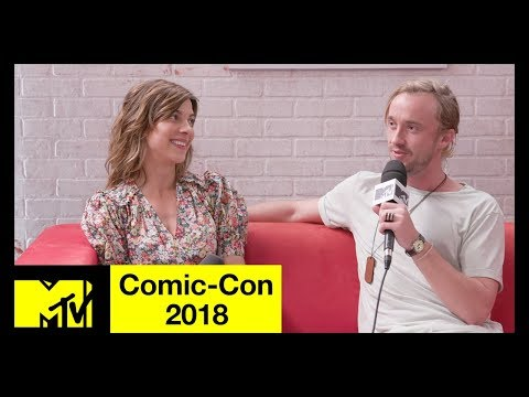 'Origin' Stars Tom Felton & Natalia Tena on the New  & Filming Locations  ComicCon 2018