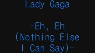 Baixar - Eh Eh Nothing Else I Can Say Lady Gaga Lyrics Grátis
