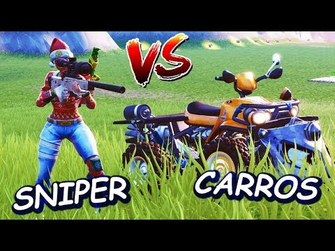 FORTNITE - SNIPER vs CARROS (NOVO MINI GAME) *CRIATIVO*