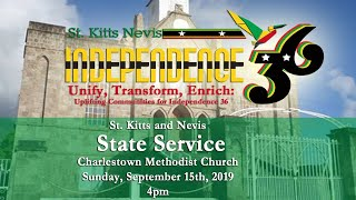 St. Kitts & Nevis Independence 36 State Service