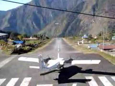 Take off From Lukla Airport , Nepal
