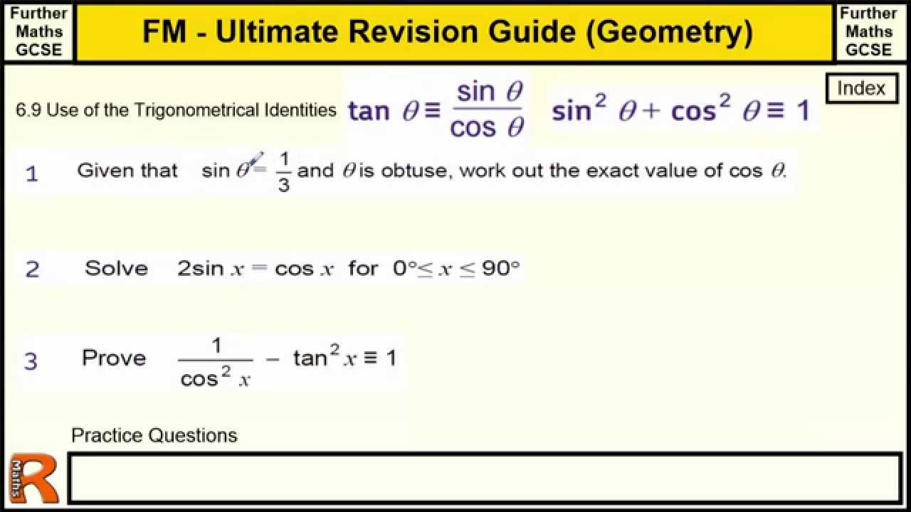 Geometry (Trigonometrical Identities) Ultimate revision guide for ...