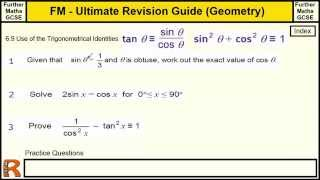 Geometry (Trigonometrical Identities) Ultimate revision guide for Further maths GCSE