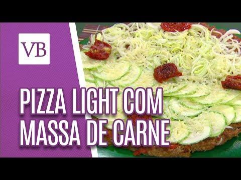 Pizza Light com Massa de Quibe e Cebola Recheada - Você Bonita (26/07/18)