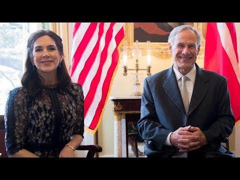 Kronprinsesse Mary besøgte Texas' guvernør i hans fornemme bolig