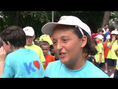 Interviews des enfants du Village Kinder après la rencontre avec Tony Estanguet