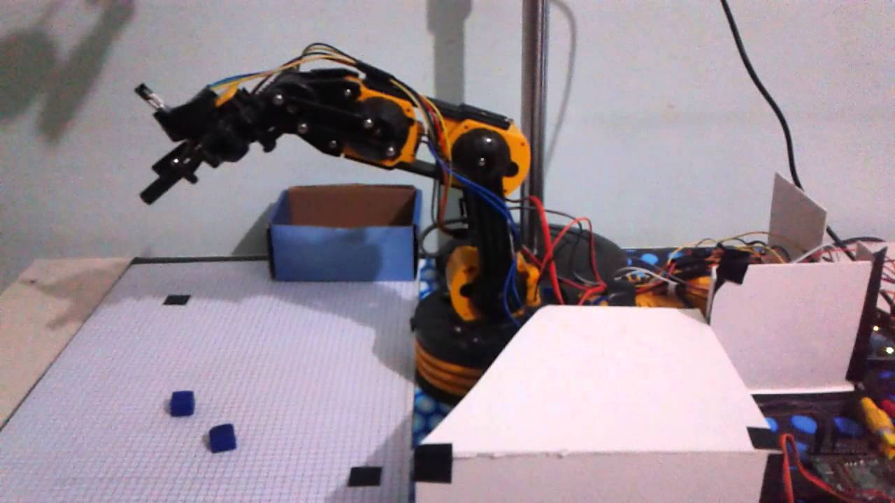 Image processing based robot arm control