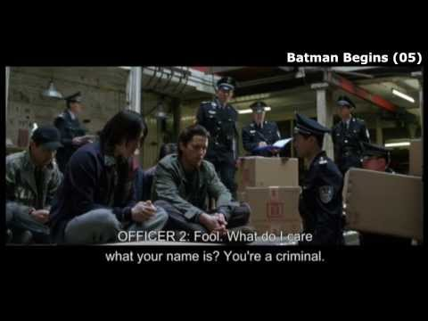 """Batman Begins (clip2-4) """"the Power of Fear. The Taste of Desperatoin"""" and """"the Thrill of Crime"""""""