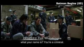 "Batman Begins (clip2-4) ""the Power of Fear. The Taste of Desperatoin"" and ""the Thrill of Crime"""