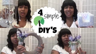 DOLLAR TREE DIY'S * CHANDELIER CANDLE STAND* CELL PHONE SOFA & MORE