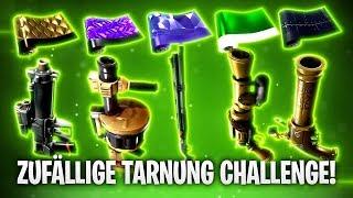DIE ZUFÄLLIGE TARNUNG CHALLENGE! 🎱 | Fortnite: Battle Royale