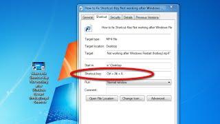 How to fix Shortcut-Key Not working after Windows Restart (Hotkey)