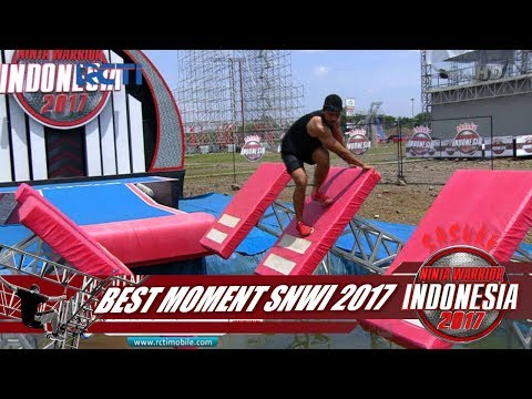 SASUKE NINJA WARRIOR INDONESIA - Best Moment Obstacle Quintuple Steps [30 Desember 2017]