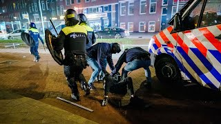 video: Anti-curfew protesters in fresh clashes with police across the Netherlands