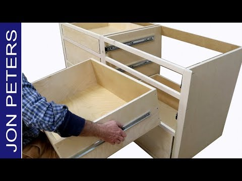 How to Build Kitchen Cabinets & Install Drawer Slides ...