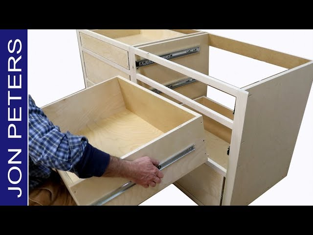 How To Build Kitchen Cabinets Install Drawer Slides Youtube