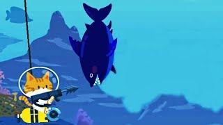 Caught Great Shark - The Fishercat / Ocean Cave Completed 100% - New Seaweed