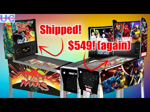 Attack from Mars US SHIPMENT FINALLY And Marvel/Star Wars Arcade1up Pinballs Back to $549 from Unqualified Critics