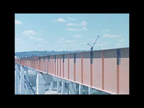 1966 Footage of Interstate 80 Bridge Constuction in Pa.