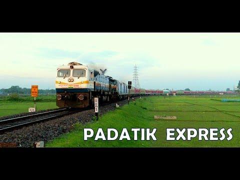 PADATIK SUPERFAST EXPRESS with High Speed EMD: New Alipurduar to Sealdah | LHB Rake