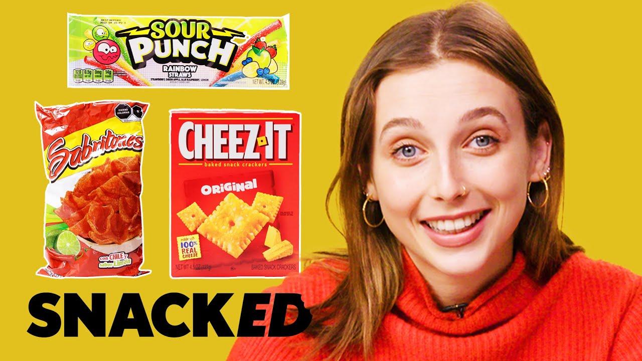 Emma Chamberlain Breaks Down Her Favorite Childhood Snacks of ALL Time   Snacked