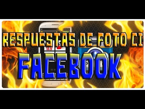 Respuestas De Foto Ci Facebook 1-317 LEER DESCRIPCIÓN!!!