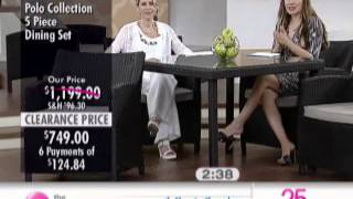 Polo Collection 5 Piece Dining Set At The Shopping Channel 509345