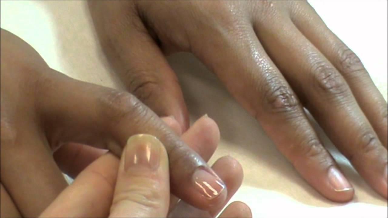 Fibreglass Natural Nail Overlay Demonstration - YouTube