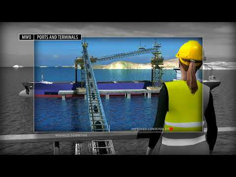 Mining, Minerals  Cement Industry Animation with Ports  Terminals