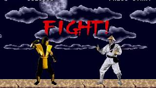 SEGA Genesis - Mortal Kombat with Voice Samples from Arcade + Color Hack (WIP)